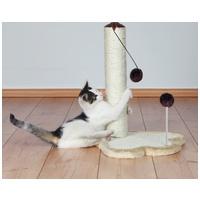 Trixie tapancs alapzatú kaparófa szőrlabdákkal