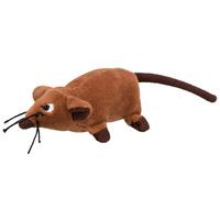 Trixie macskamentás barna plüss patkány