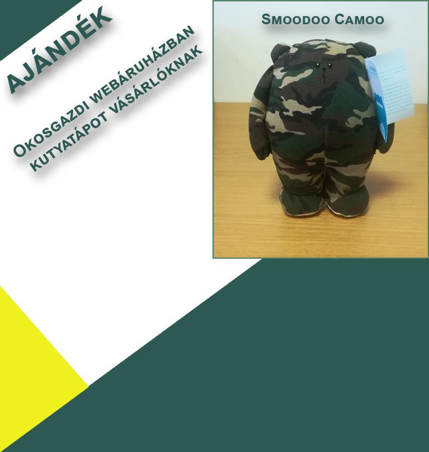Camoo ajándékba egyes prémium tápokhoz az Okosgazditól