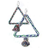 Háromszög alakú madárhinta kötélből