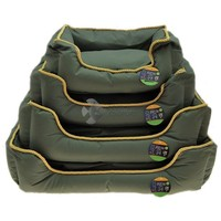 Vízlepergetős fotel fekhely kutyáknak olívazöld színben