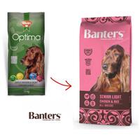 Visán Optima / Banters Dog Senior & Light energiacsökkentett táp idős kutyáknak