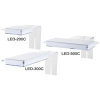 Sobo akasztós fehér-kék LED világítás 4-6 mm-es üvegre
