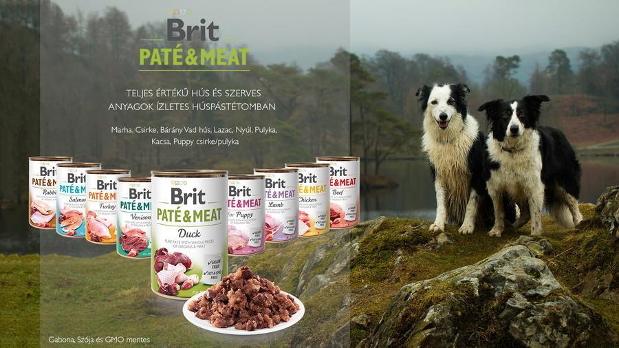 Brit Care Paté & Meat konzerves eledelek kutyák számára