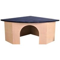 Trixie kék tetős sarok házikó faházikó