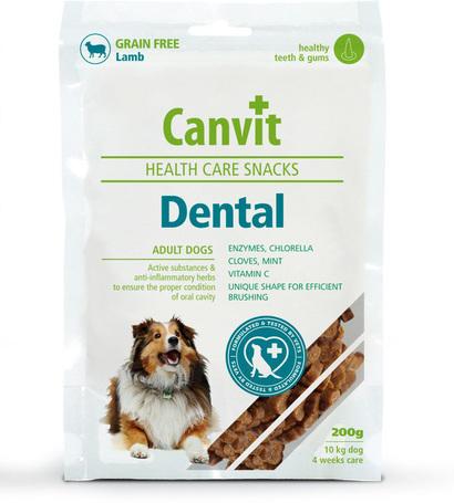 Canvit Health Care Dental Snack | Gyulladásgátló és fogápoló jutalomfalat kutyáknak