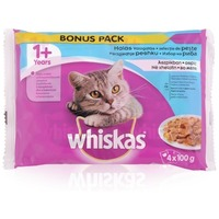 Whiskas halas válogatás aszpikban – Alutasakos eledel – Multipack