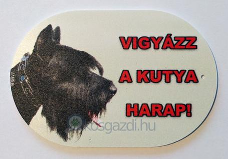 Vigyázz a kutya harap! – Figyelmeztető tábla lekerekített sarkokkal