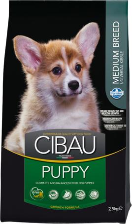 Cibau Puppy Medium száraztáp közepes testméretű kutyák számára