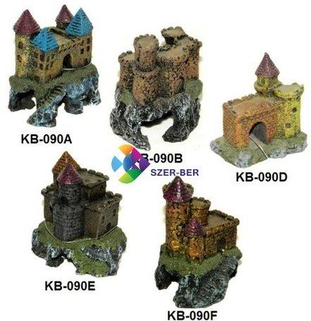 Kis vár akvárium dekor több méretben és formában
