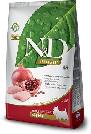 N&D Dog Adult Mini Chicken & Pomegranate Grain Free | Apró szemcseméretű kutyatáp kistestű kedvenceknek