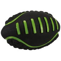 Trixie latex rögbilabda filc töltéssel zöld-fekete színben kutyáknak