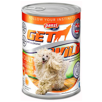 Panzi GetWild Dog Adult Chicken & Apple konzerv
