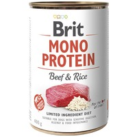 Brit Mono Protein Beef & Brown Rice   Hipoallergén konzerves kutyatáp marhahússal és barnarizzsel