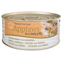 Applaws konzerv macskáknak csirkehússal és makrélával aszpikban