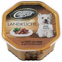 Cesar pulyka- és marhahúsos kutyaeledel alutálkában