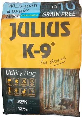 Julius-K9 GF Hypoallergenic Utility Dog Adult Wild Boar & Berry 10 kg