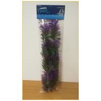 Akváriumi műnövény lilába hajló vékony szálú levelekkel