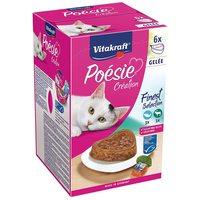Vitakraft Poésie Multipack - Aszpikos válogatás alutálkában macskáknak