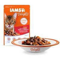 IAMS Cat Delights - Marhahús és répa falatok aszpikban