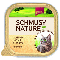 Schmusy Nature alutálkás macskeledel csirkehússal és lazaccal
