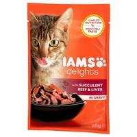 IAMS Cat Delights – Marhahús és máj szószban