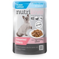 Nutrilove Cat Sterilized szaftos lazac alutasakban