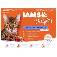 IAMS Cat Delights – Land & Sea – Szószos – Multipack