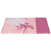 Trixie rózsaszín hűsítő matrac pálmafákkal kutyáknak | Dizájnos kiegészítő felszerelés a nyári melegben