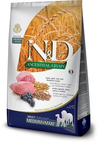 N&D Dog Adult Medium & Maxi Lamb & Blueberry Ancestral Grain