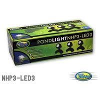 Aqua Nova NHP3-LED3 vízalatti LED világítás kerti tóba