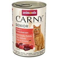 Animonda Carny Senior marhás és pulykaszíves konzerv idős macskáknak