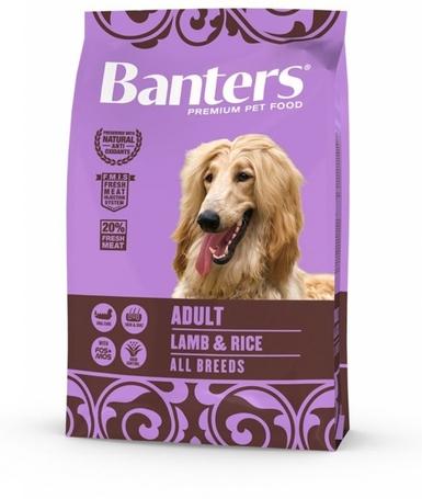 Visán Optima / Banters Dog Adult Lamb & Rice   Táp érzékeny vagy allergiás kutyáknak is