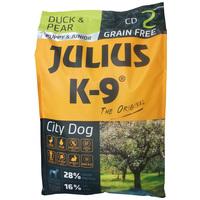Julius-K9 GF City Dog Puppy & Junior Duck & Pear | Gabonamentes eledel kölyök és növendék kutyáknak