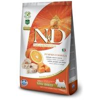 N&D Dog Grain Free Adult Mini sütőtök, tőkehal & narancs   Kistestű felnőtt kutyák részére