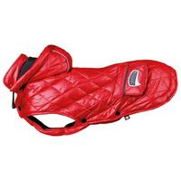 Trixie Sila piros télikabát kutyáknak párnázott béléssel, levehető kapucnival