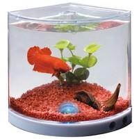 Happet Betta Home - Háromszög alakú mini sarok akvárium