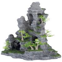 Trixie szikla üregekkel és növényekkel