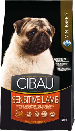 Cibau Sensitive Lamb Mini kutyatáp érzékeny emésztésű kistestű kutyáknak