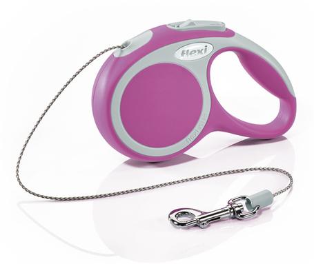 Flexi Vario kötélpóráz - XS, 8 kg-ig, 3 m, rózsaszín