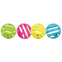 Trixie játék labda csörgővel – 4 darabos szett
