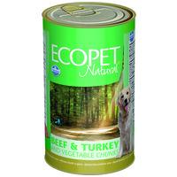 Ecopet Natural konzerv kutyáknak marhával, pulykával és zöldséggel