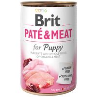 Brit Care Paté & Meat Puppy Chicken & Turkey konzerv kutyáknak - Pástétom egész húsdarabokkal