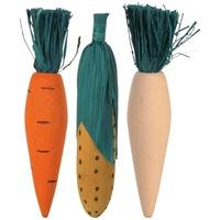 Trixie fogkoptatók fából és szalmábal – répa, kukorica és retek formák