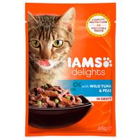 IAMS Cat Delights – Tonhal és borsó szószban