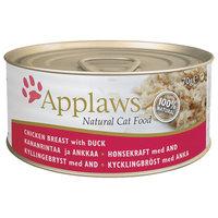 Applaws csirkemell és kacsahúsos konzerv macskáknak