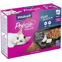 Vitakraft Poésie halas, szószos válogatás macskáknak - Alutasakos multipack (3 x 2 x 85 g)