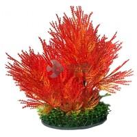Sűrű narancssárga műnövény akváriumba