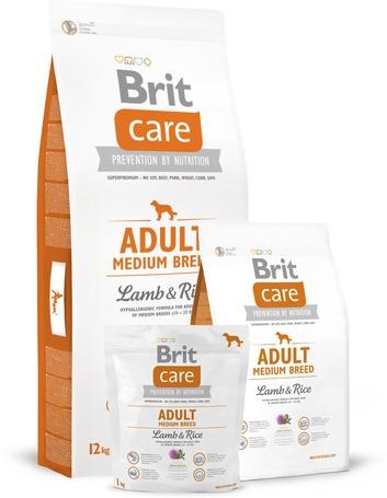 Brit Care Adult Medium Lamb & Rice kutyatáp érzékeny emésztésre
