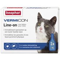Beaphar Vermicon Cat Line-on Spot-on | Rácsepegtető oldat macskáknak élősködők ellen